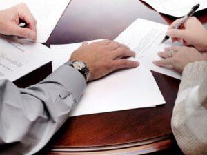 signing loan paperwork
